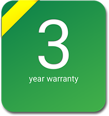 exacqVision 3 year warranty badge