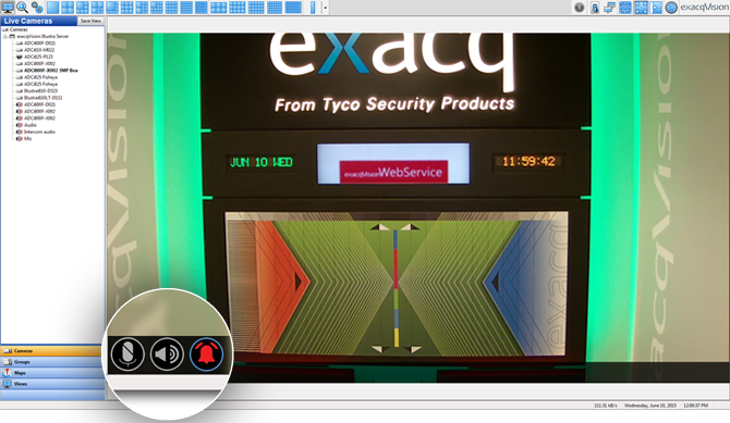 Exacqvision professional video management system software for Security camera placement software