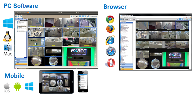 exacqVision Professional Video Management System Software