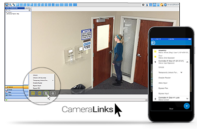 exacqVision CameraLinks for Kantech Access Control